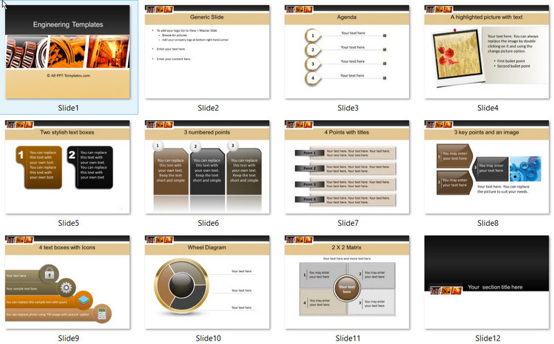 PowerPoint Manufacturing and Storage Template 01
