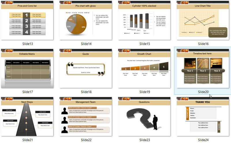 PowerPoint Manufacturing and Storage Template 02