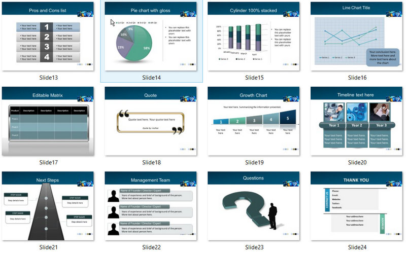 PowerPoint Manufacturing Machinery Template 02