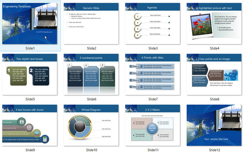 PowerPoint Power Template 01