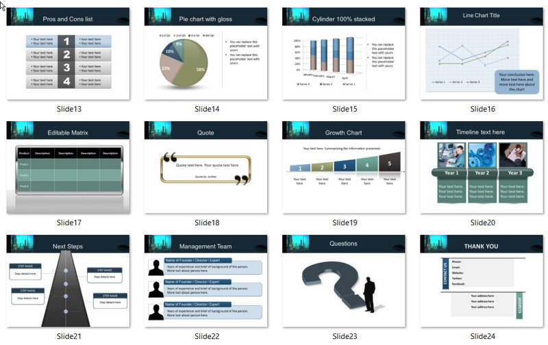PowerPoint Process Engineering Template 02