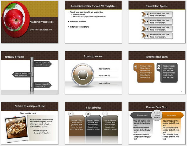 Academic Powerpoint Template from www.all-ppt-templates.com