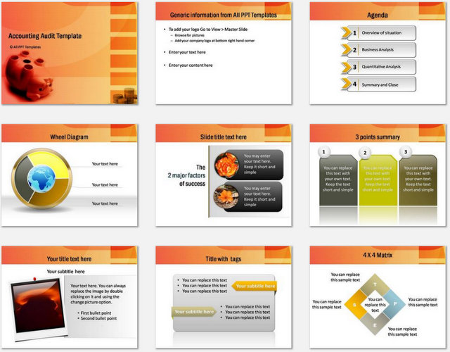 Powerpoint accounting audit template powerpoint accounting audit charts 1 toneelgroepblik Images