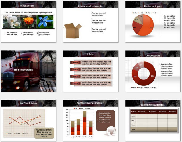 PowerPoint Advanced Logistics Charts 02