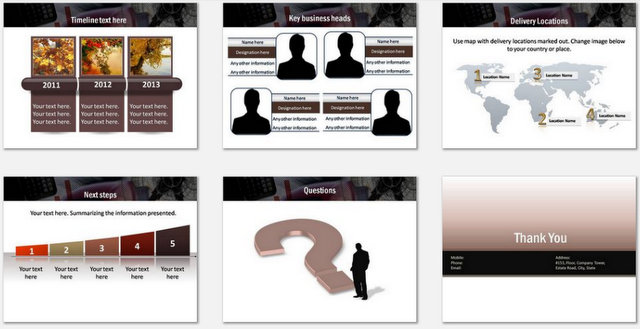 PowerPoint Advanced Logistics Charts 03