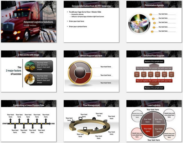 PowerPoint Advanced Logistics Charts 01