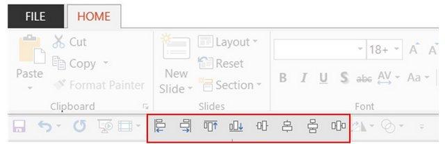 Align Tools in Quick Access Toolbar