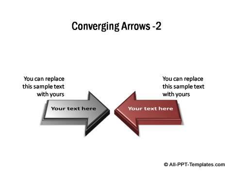 2 sets of 3D block arrows converging