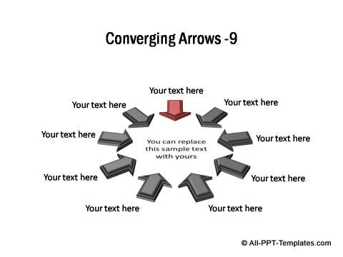 PowerPoint Converging Arrows 15