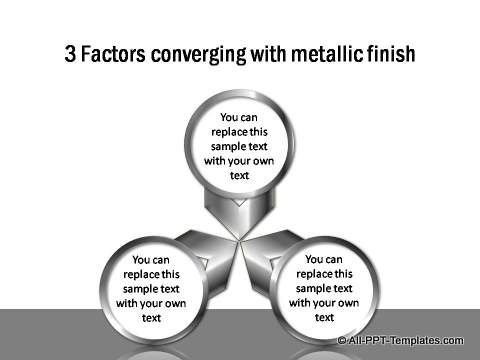 2 converging factors shown with metallic finish