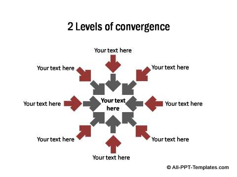 2 levels of convergence in PowerPoint arrows