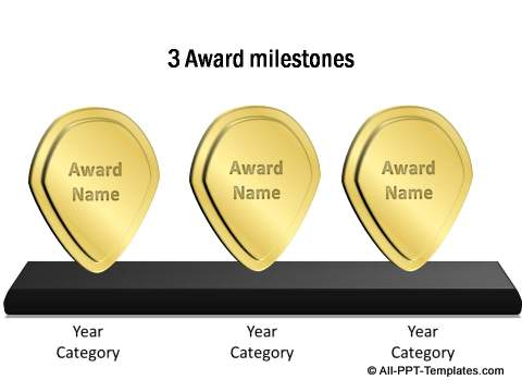 Powerpoint award templates 3 awards or milestones toneelgroepblik Image collections