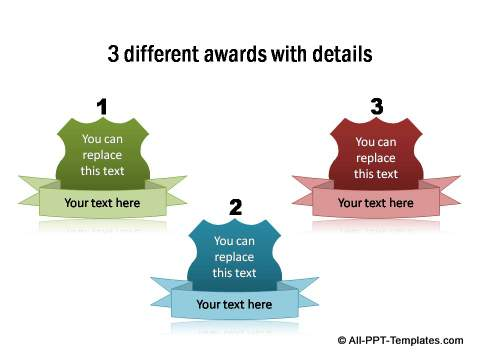 3 awards with details