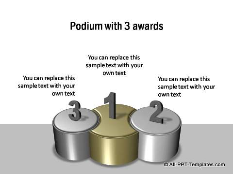 3 Podiums for awards