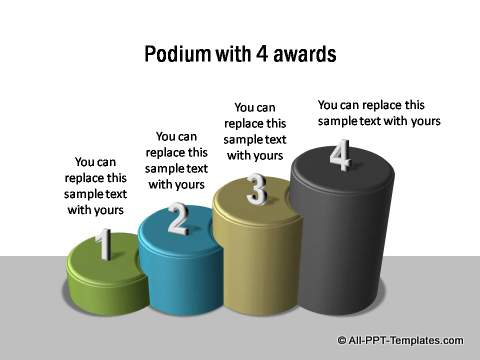 4 Podiums for awards