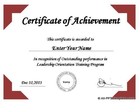PowerPoint Certificate 01