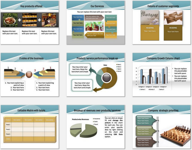 PowerPoint Blue Wave Intro Charts 2