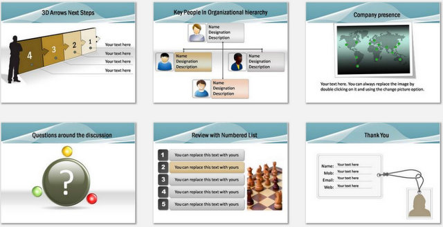 PowerPoint Blue Wave Intro Charts 3