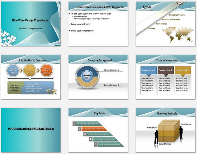 Powerpoint blue wave intro template powerpoint blue wave intro charts 1 accmission Image collections