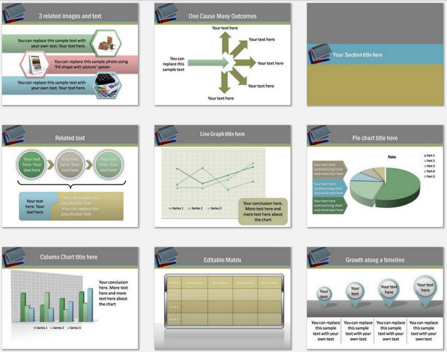 Books and Education Pptx Charts 2