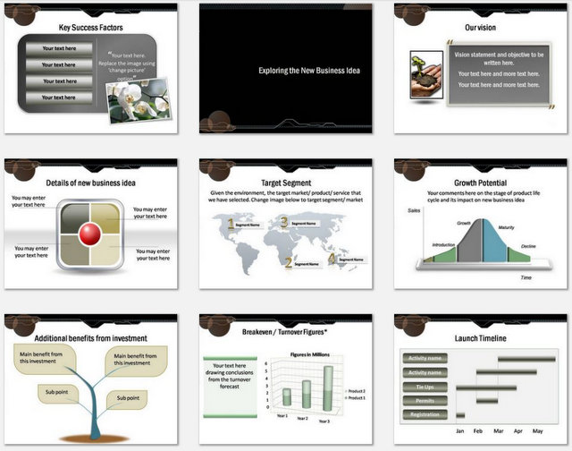 Powerpoint Business Idea Charts 2