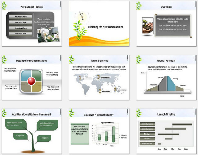 Powerpoint  Growth over time Charts 2