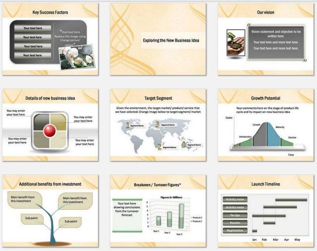 Powerpoint Elegant Crisscross Charts 2