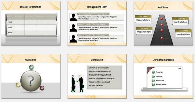 PowerPoint Elegant Crisscross Charts 3