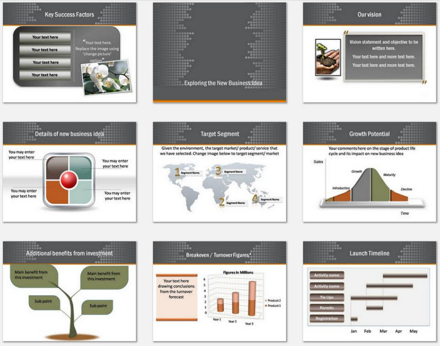 Powerpoint Plan Reach Out Charts 2