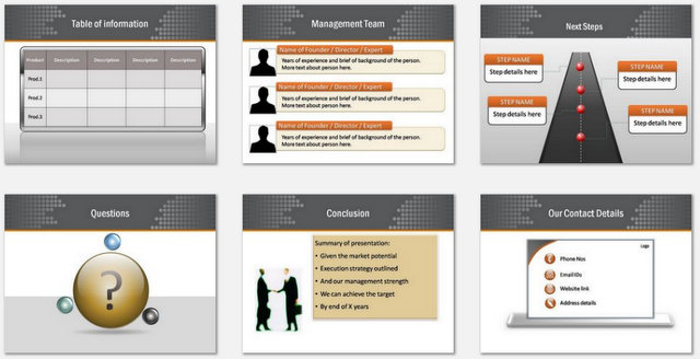 PowerPoint Plan Reach Out Charts 3