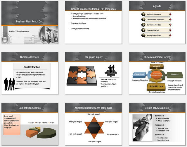 Powerpoint Plan Reach Out Charts 1