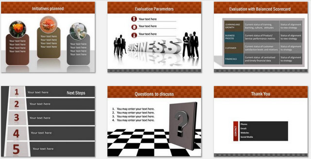 PowerPoint Business Highlights Charts 03