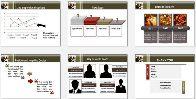 PowerPoint Business Internals Charts 3