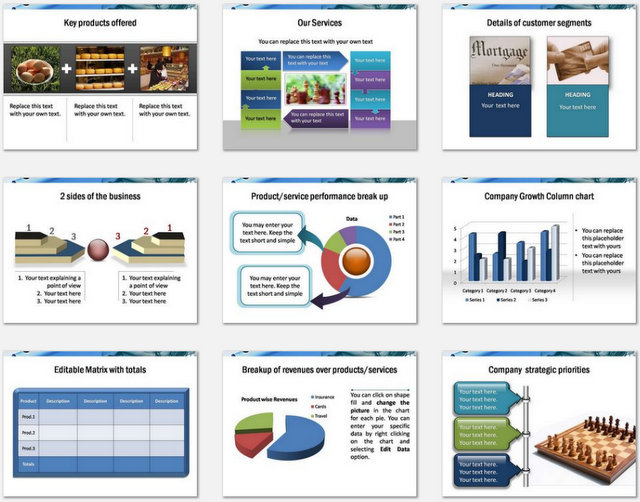 PowerPoint Business Introduction Charts 2