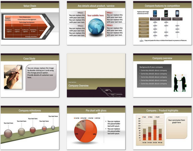 PowerPoint Business Meeting Charts 02