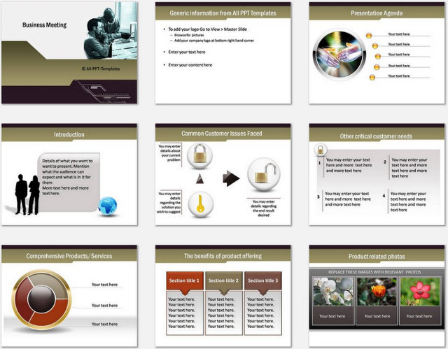 PowerPoint Business Meeting Charts 01