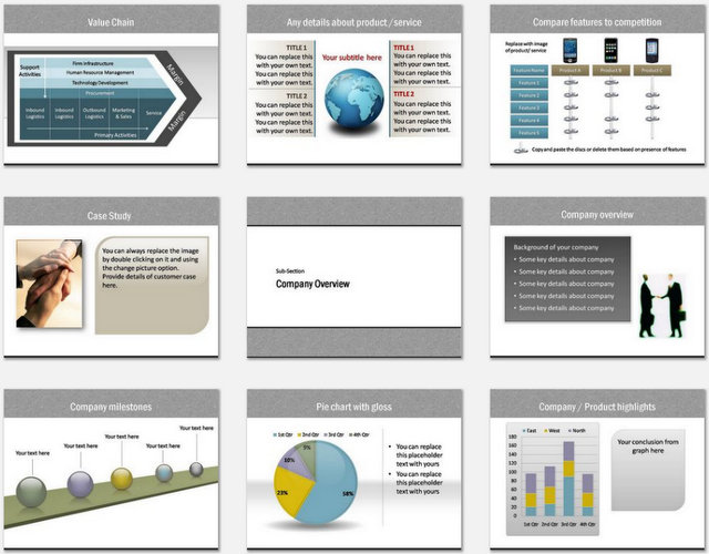 PowerPoint Calling Card Charts 02