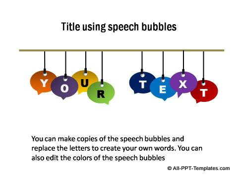 Title using Speech Bubble