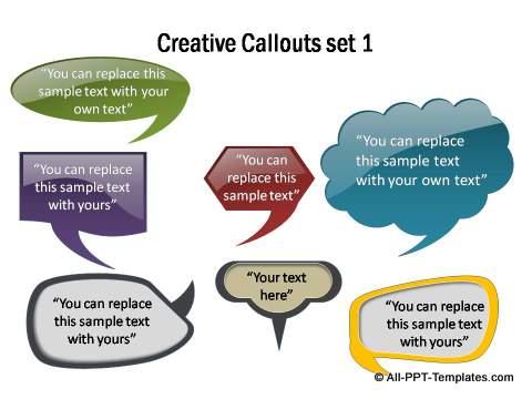 Creative Callout set 1