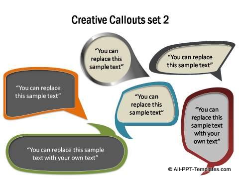 Creative Callout set 2