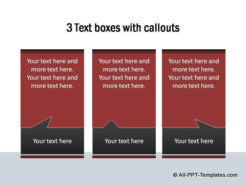 Text Boxes with callouts