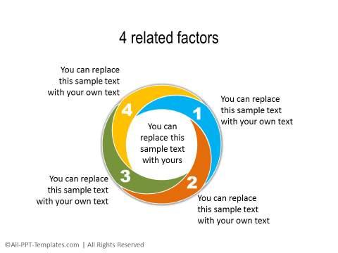 PowerPoint Segmented Circle 10