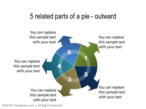 PowerPoint Segmented Circle 15