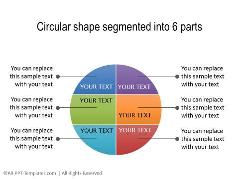 PowerPoint Segmented Circle 19