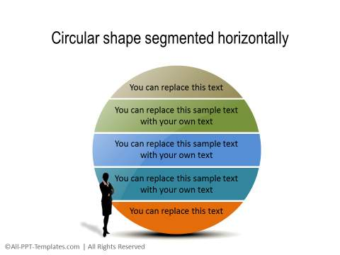 PowerPoint Segmented Circle 20