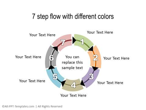 PowerPoint Circular Flow 13