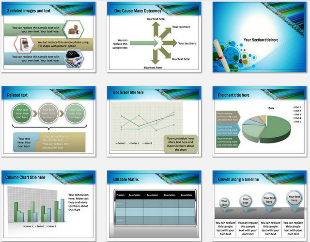 Creative Education Pptx Charts 2