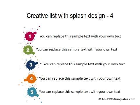 Creative List with Splash design