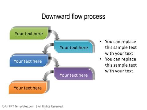 PowerPoint Creative Process Flow 08
