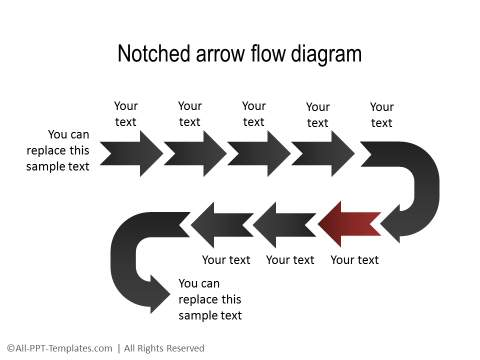 PowerPoint Creative Process Flow 18